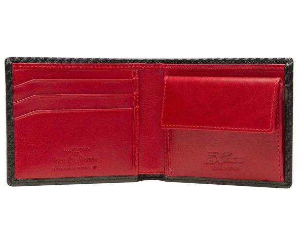 Cartera color rojo interior piel edición indianapolis